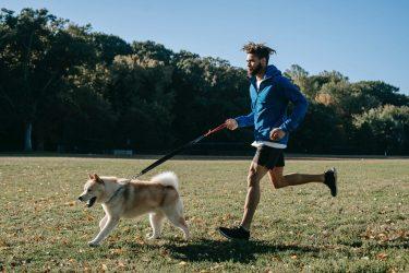 Het Gezinsleven - Lifestyle - Sporten - Hoe begin je met hardlopen? - Man rent hard samen met zijn hond